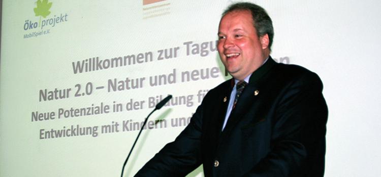 Landrat Christoph Göbel begrüßte die Gäste